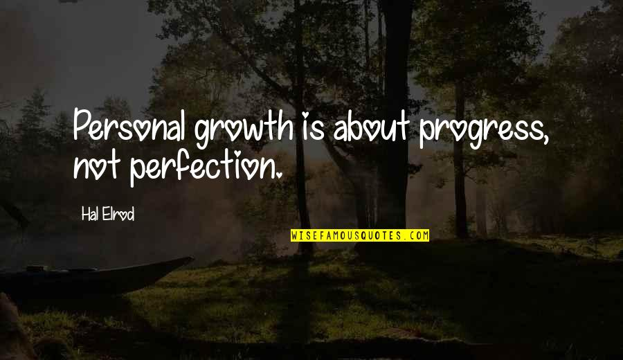 About Motivational Quotes By Hal Elrod: Personal growth is about progress, not perfection.