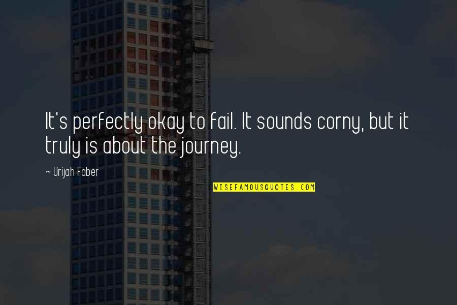 About The Journey Quotes By Urijah Faber: It's perfectly okay to fail. It sounds corny,