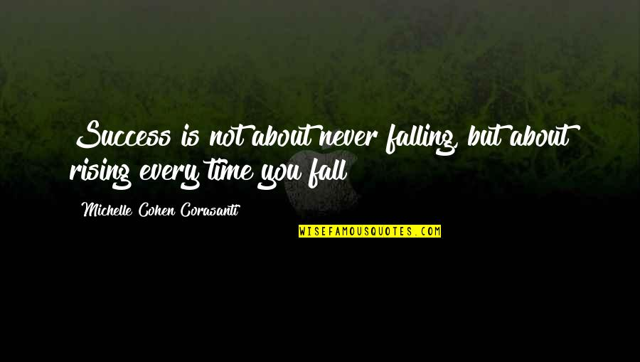 About Time Inspirational Quotes By Michelle Cohen Corasanti: Success is not about never falling, but about