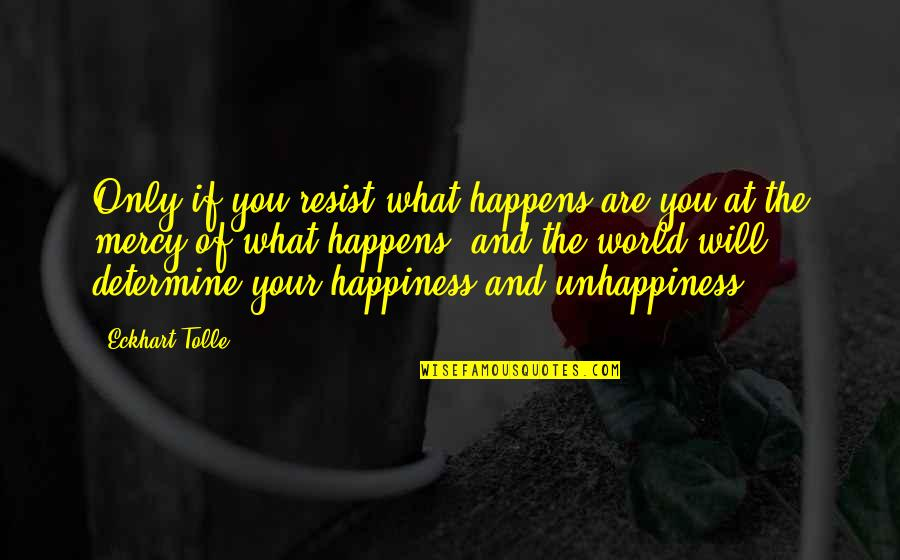 Abraham Wald Quotes By Eckhart Tolle: Only if you resist what happens are you