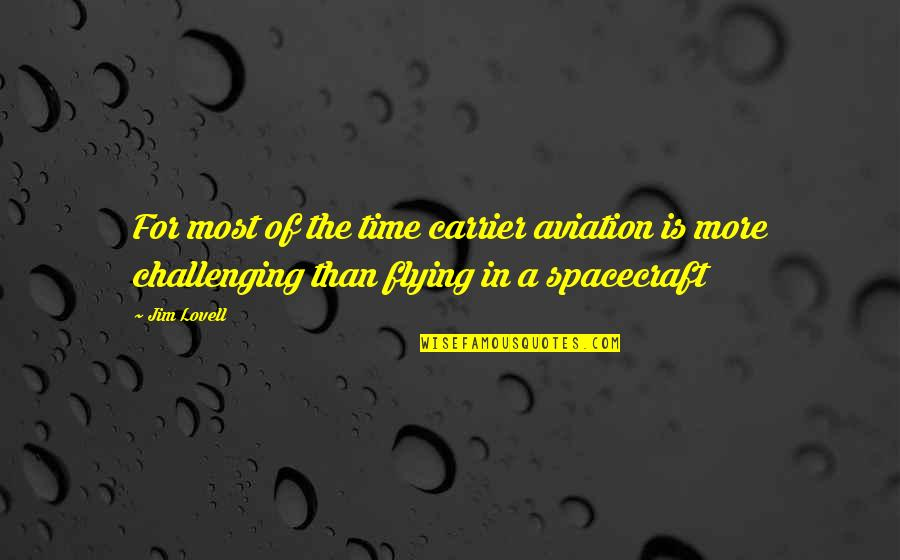 Abrasiveness Quotes By Jim Lovell: For most of the time carrier aviation is