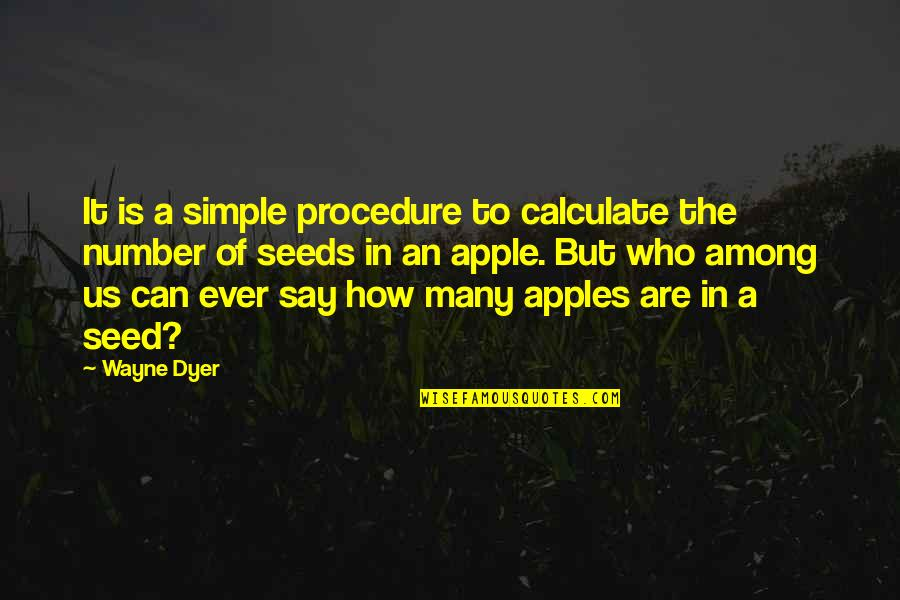 Academic Integrity Quotes By Wayne Dyer: It is a simple procedure to calculate the