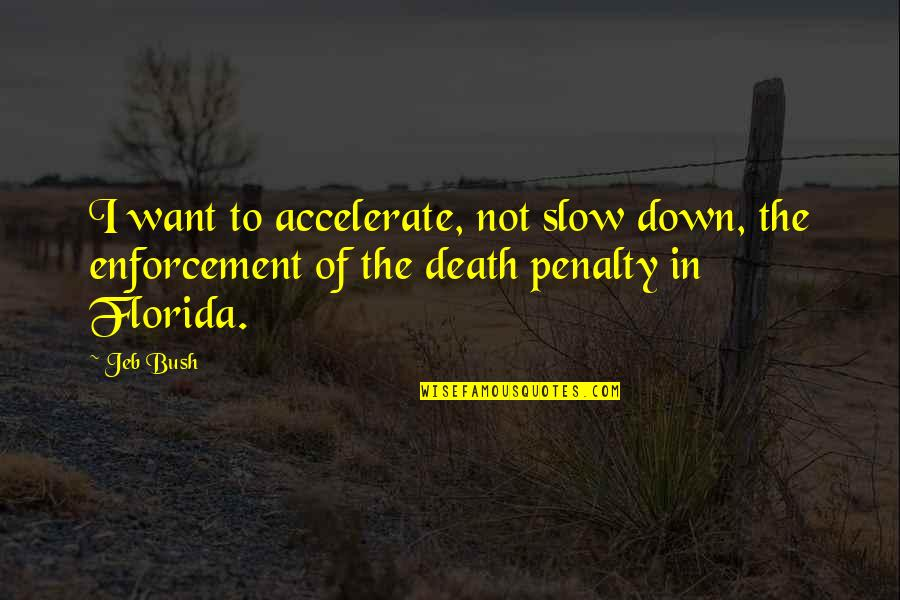 Accelerate Quotes By Jeb Bush: I want to accelerate, not slow down, the