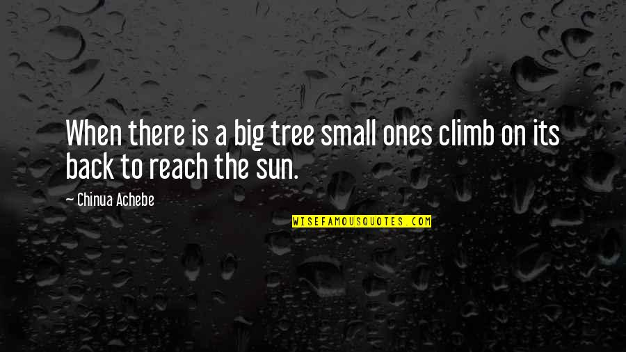 Achebe's Quotes By Chinua Achebe: When there is a big tree small ones