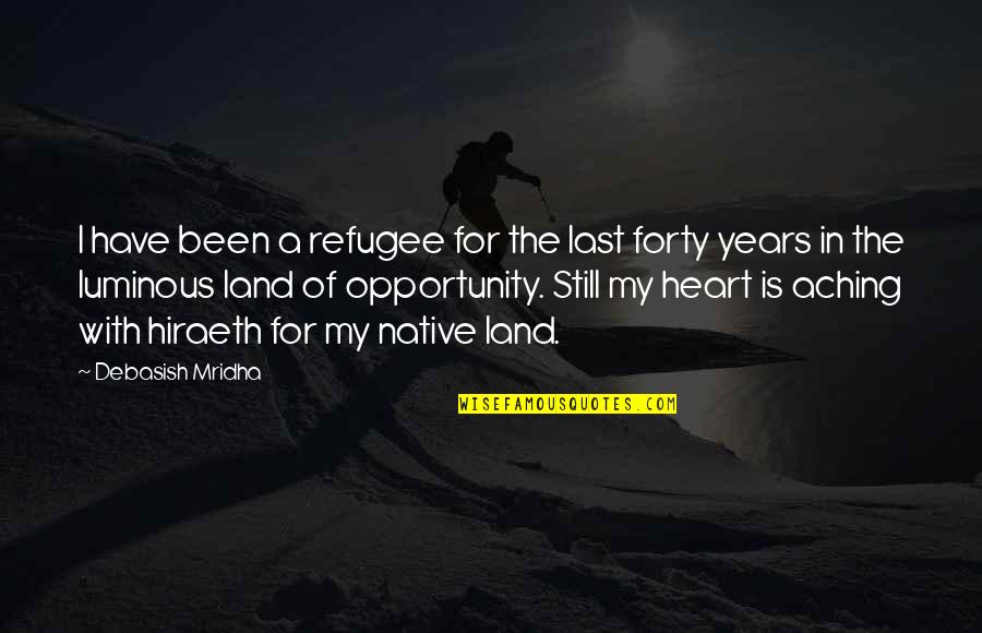Aching Heart Quotes By Debasish Mridha: I have been a refugee for the last
