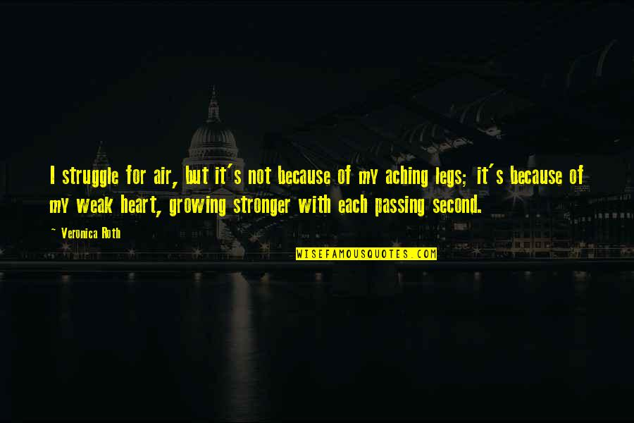 Aching Heart Quotes By Veronica Roth: I struggle for air, but it's not because