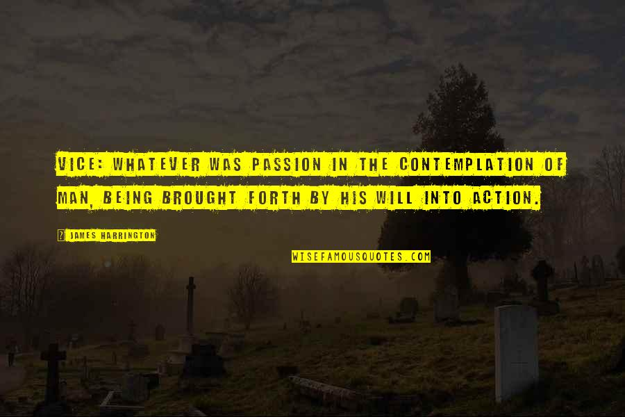 Action Man Quotes By James Harrington: Vice: Whatever was passion in the contemplation of