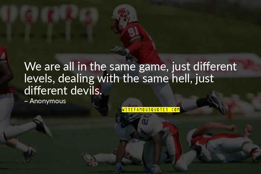 Actor Surya Quotes By Anonymous: We are all in the same game, just