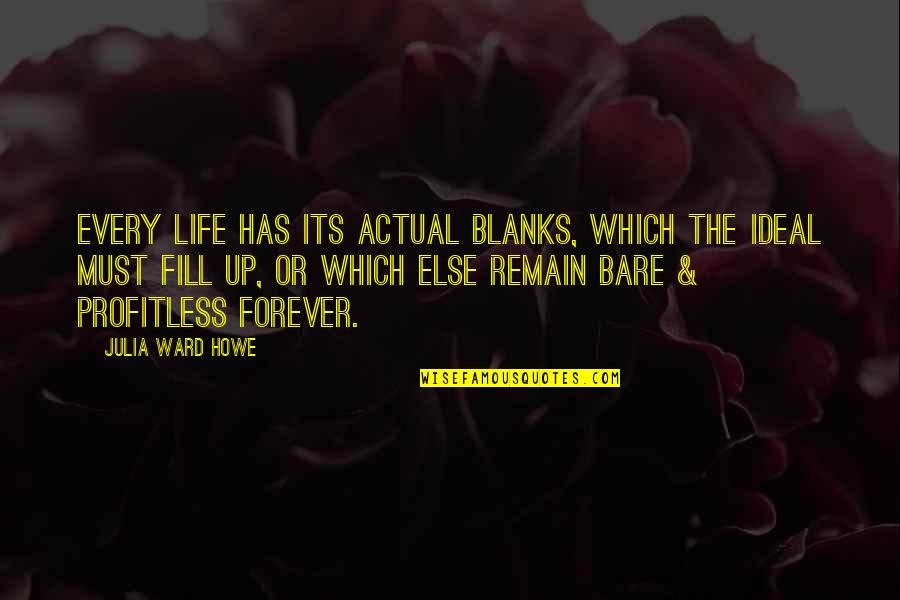 Actual Life Quotes By Julia Ward Howe: Every life has its actual blanks, which the