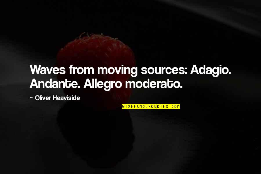 Adagio Quotes By Oliver Heaviside: Waves from moving sources: Adagio. Andante. Allegro moderato.