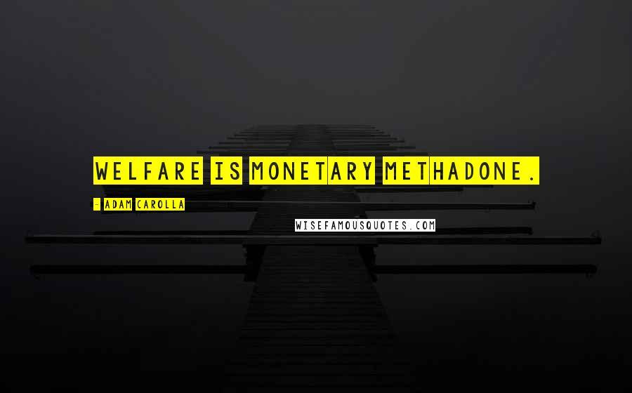 Adam Carolla quotes: Welfare is monetary methadone.