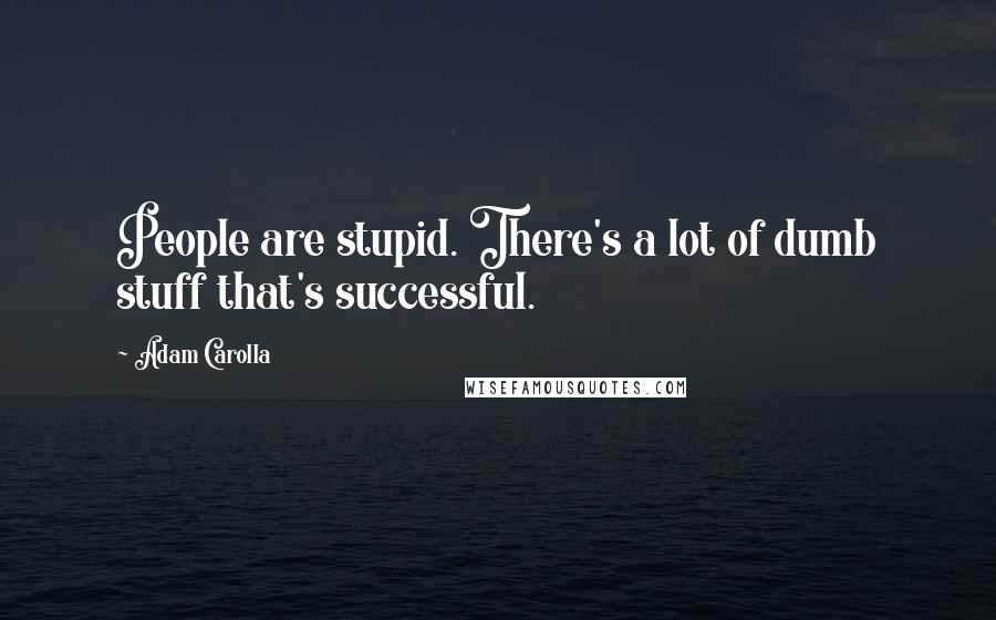 Adam Carolla quotes: People are stupid. There's a lot of dumb stuff that's successful.