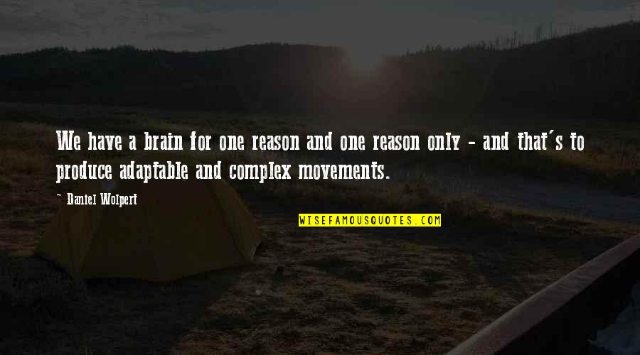 Adaptable Quotes By Daniel Wolpert: We have a brain for one reason and