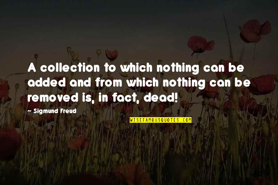 Added Quotes By Sigmund Freud: A collection to which nothing can be added