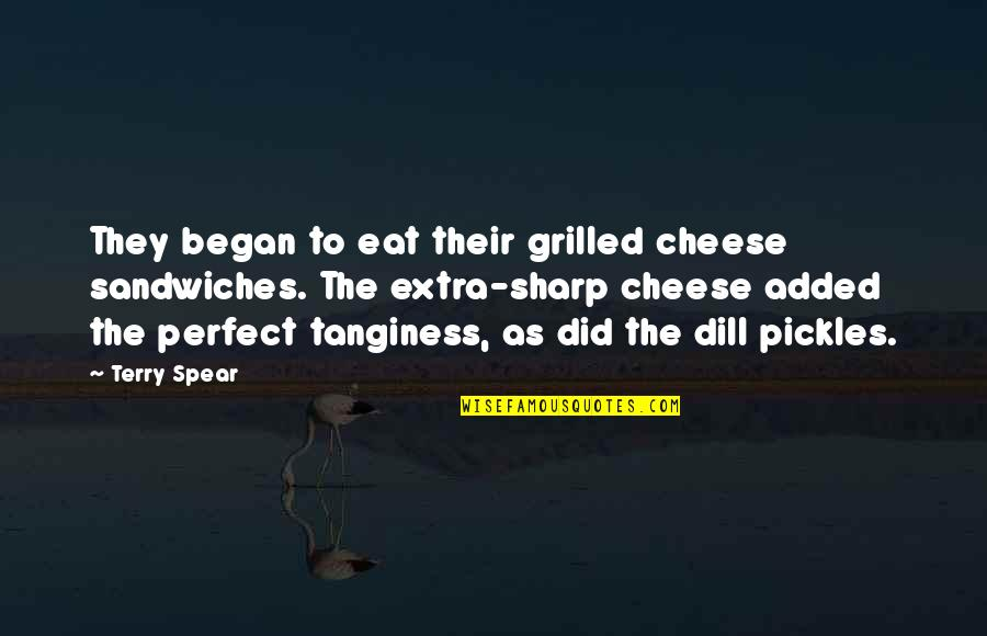Added Quotes By Terry Spear: They began to eat their grilled cheese sandwiches.