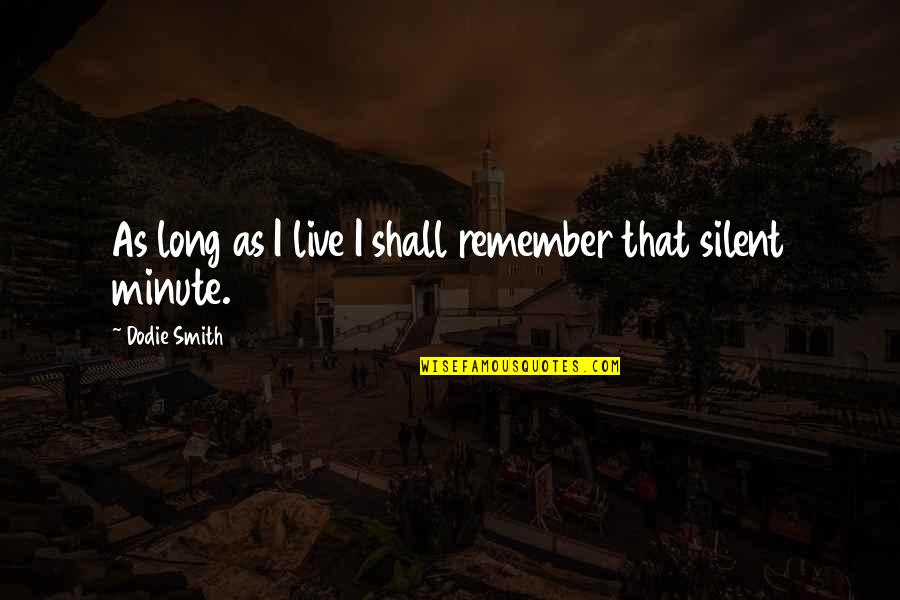 Adele Basheer Love Quotes By Dodie Smith: As long as I live I shall remember