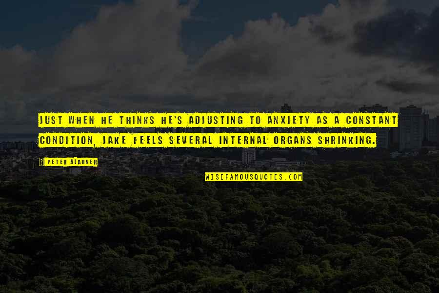 Adjusting Quotes By Peter Blauner: Just when he thinks he's adjusting to anxiety