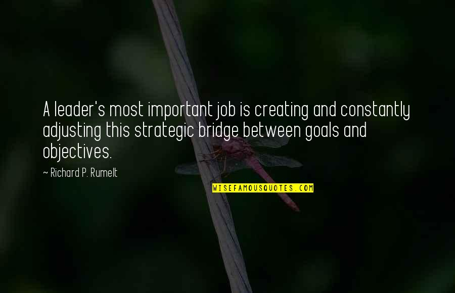 Adjusting Quotes By Richard P. Rumelt: A leader's most important job is creating and