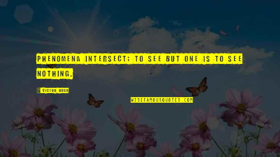 Adnan Syed Quotes By Victor Hugo: Phenomena intersect; to see but one is to