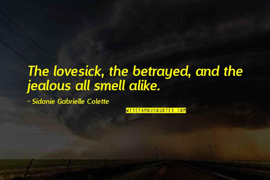 Adoun Quotes By Sidonie Gabrielle Colette: The lovesick, the betrayed, and the jealous all