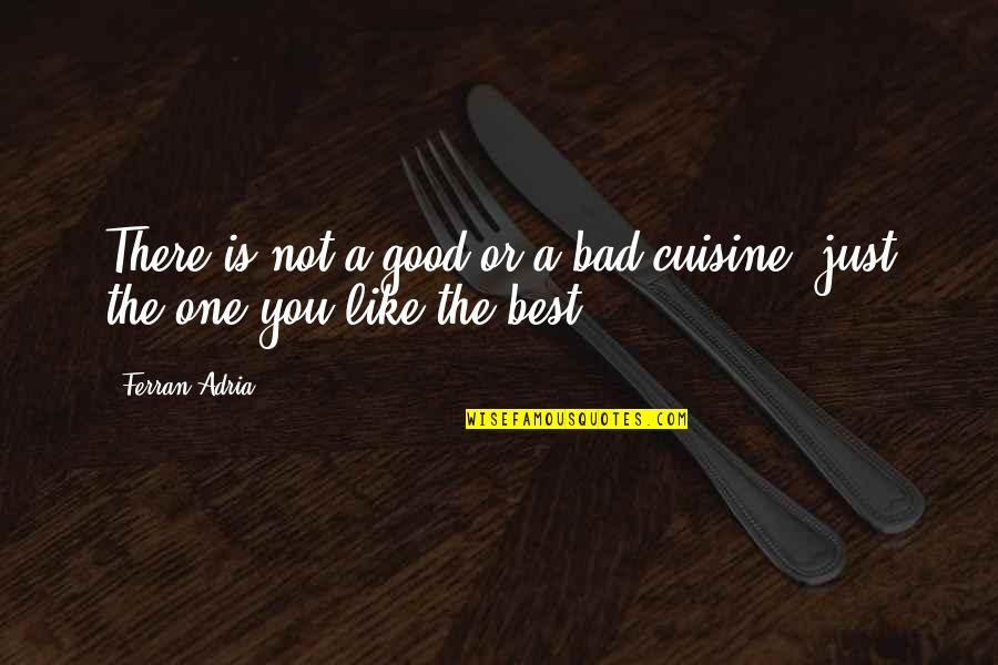 Adria Ferran Quotes By Ferran Adria: There is not a good or a bad