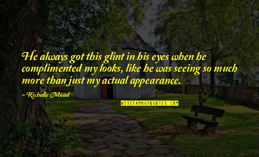 Adrian And Sydney Quotes By Richelle Mead: He always got this glint in his eyes