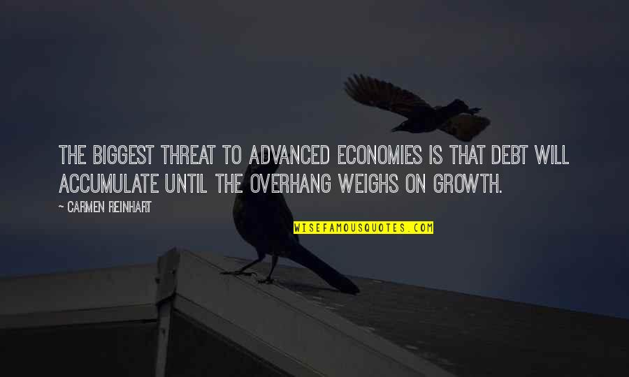 Advanced Quotes By Carmen Reinhart: The biggest threat to advanced economies is that
