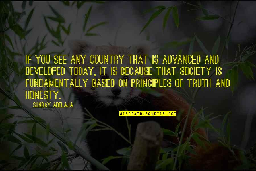 Advanced Quotes By Sunday Adelaja: If you see any country that is advanced