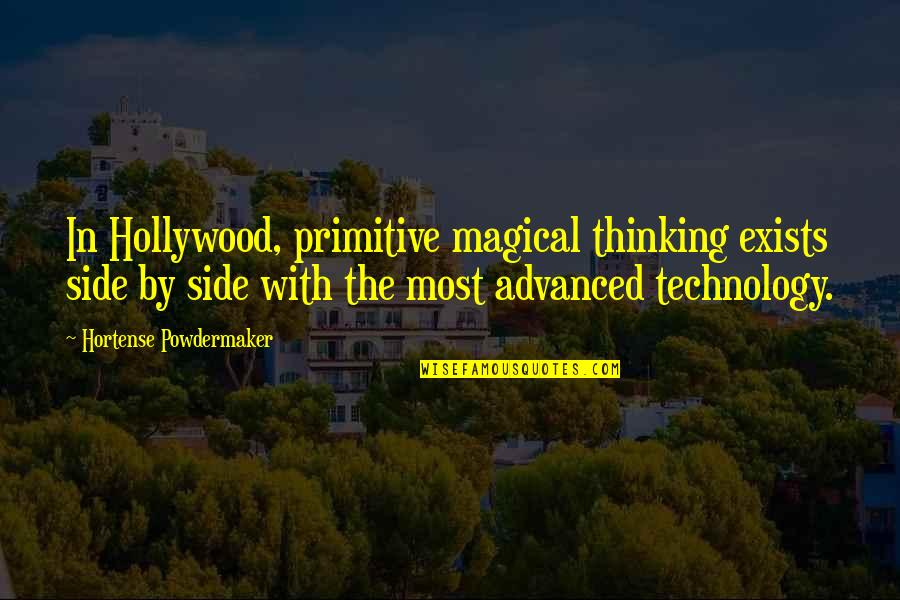Advanced Technology Quotes By Hortense Powdermaker: In Hollywood, primitive magical thinking exists side by