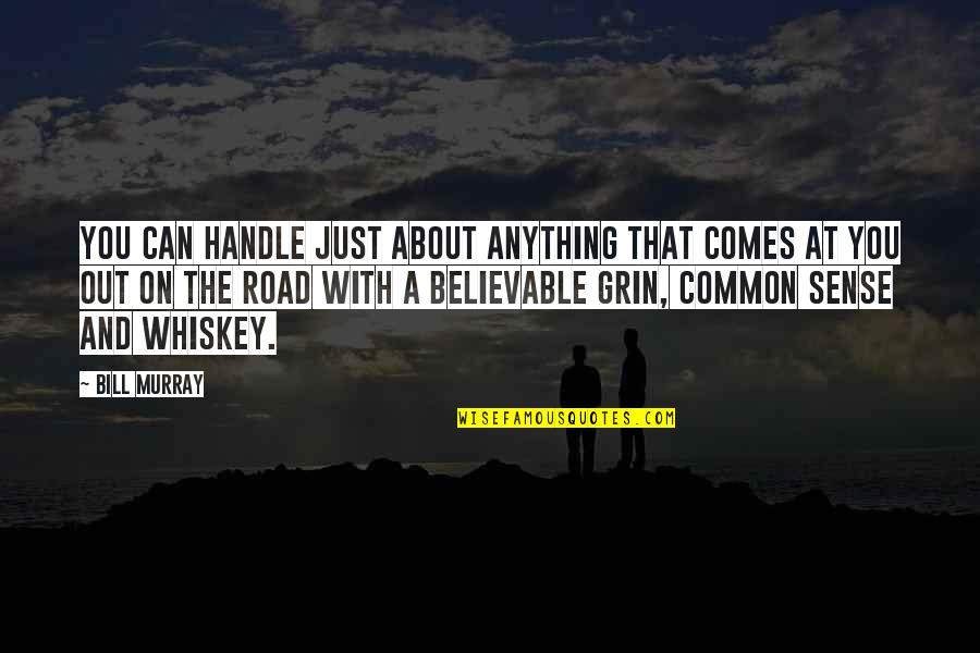 Adventure And The World Quotes By Bill Murray: You can handle just about anything that comes