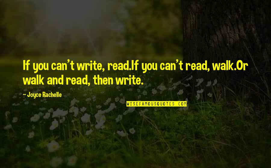 Adverture Quotes By Joyce Rachelle: If you can't write, read.If you can't read,