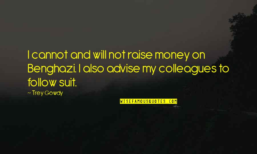 Advise Quotes By Trey Gowdy: I cannot and will not raise money on