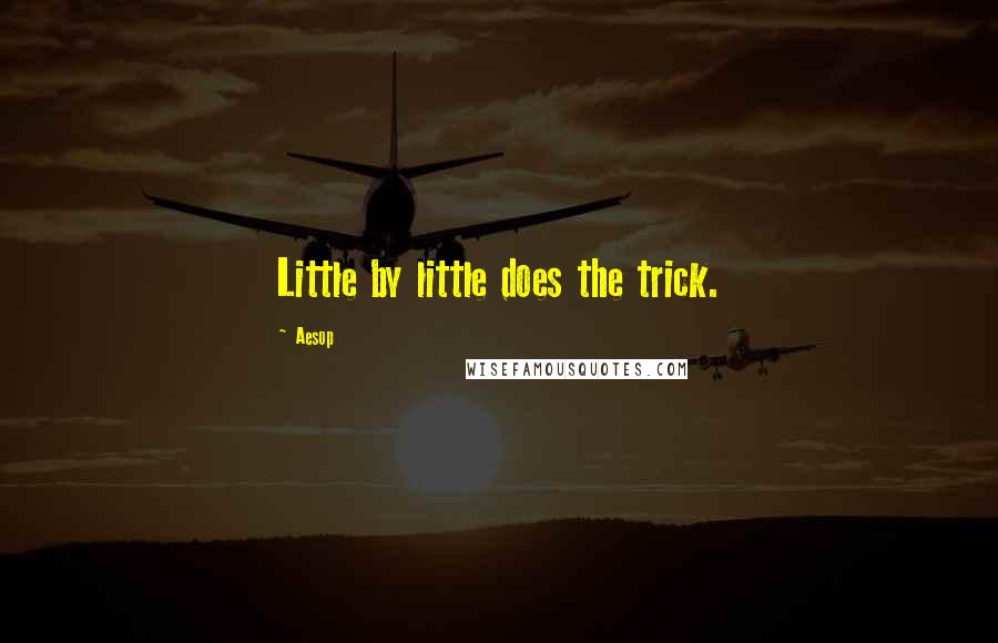 Aesop quotes: Little by little does the trick.