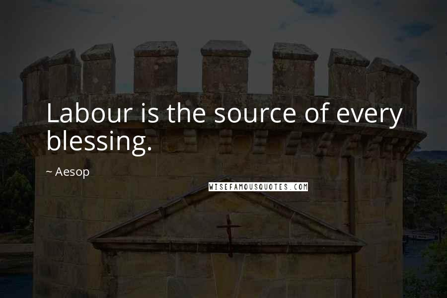 Aesop quotes: Labour is the source of every blessing.