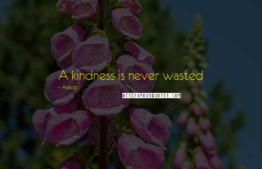 Aesop quotes: A kindness is never wasted