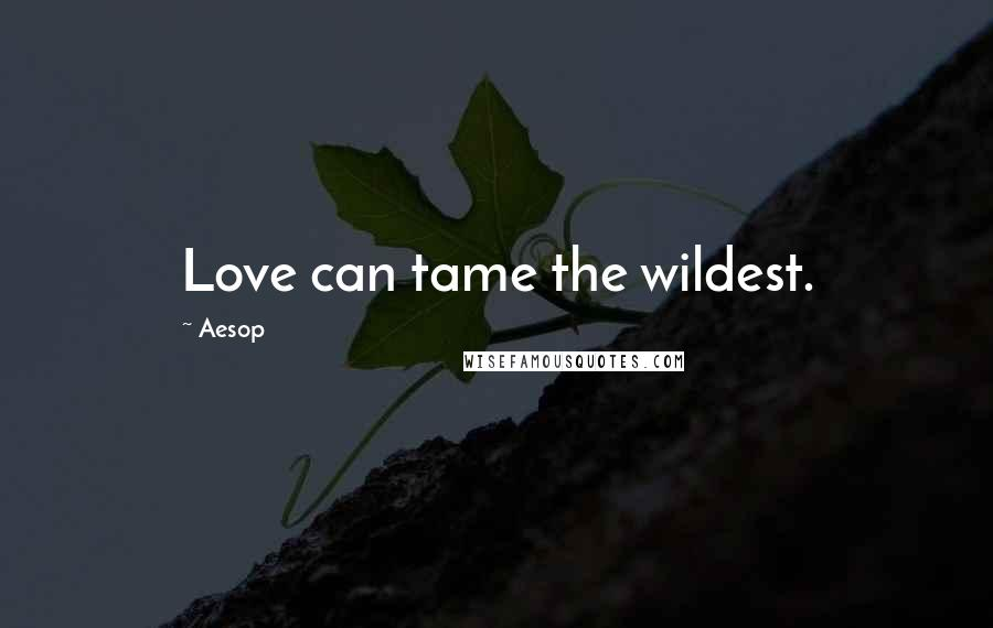 Aesop quotes: Love can tame the wildest.