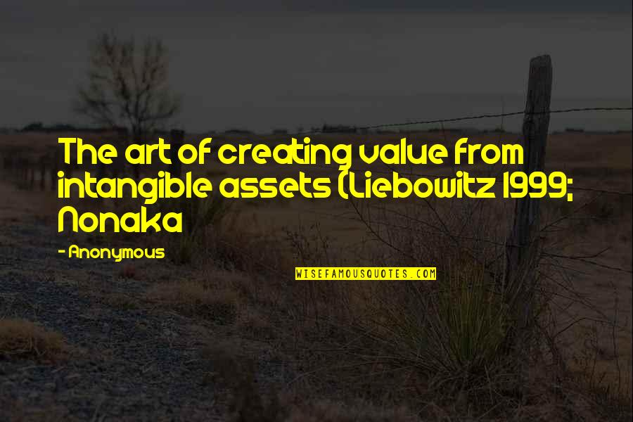 Aesop Skin Care Quotes By Anonymous: The art of creating value from intangible assets