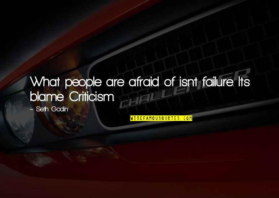 Afraid Of Failure Quotes By Seth Godin: What people are afraid of isn't failure. It's