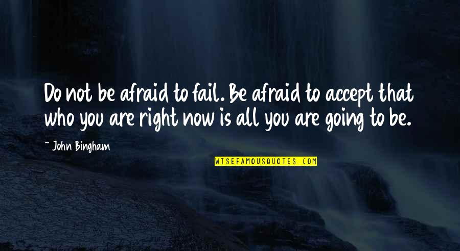 Afraid To Fail Quotes By John Bingham: Do not be afraid to fail. Be afraid