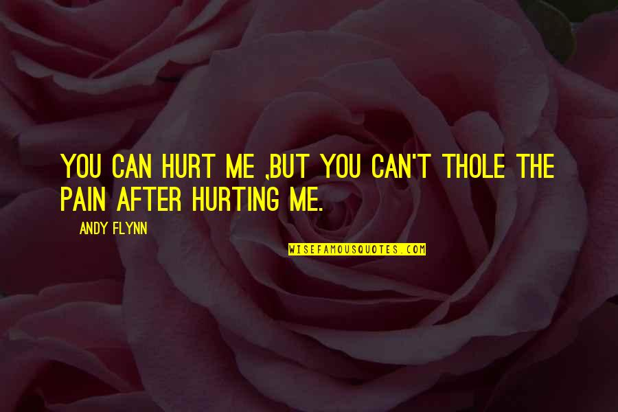 After All The Pain Quotes By Andy Flynn: You can hurt me ,but you can't thole
