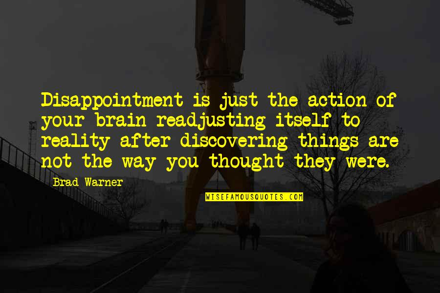 After The Quotes By Brad Warner: Disappointment is just the action of your brain