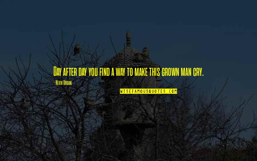 After You Cry Quotes By Keith Urban: Day after day you find a way to