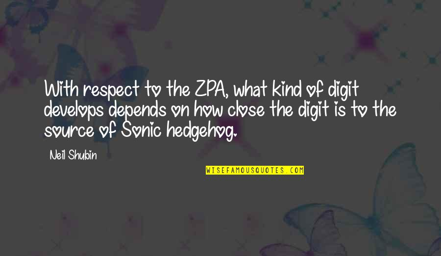 Age Difference In Dating Quotes By Neil Shubin: With respect to the ZPA, what kind of