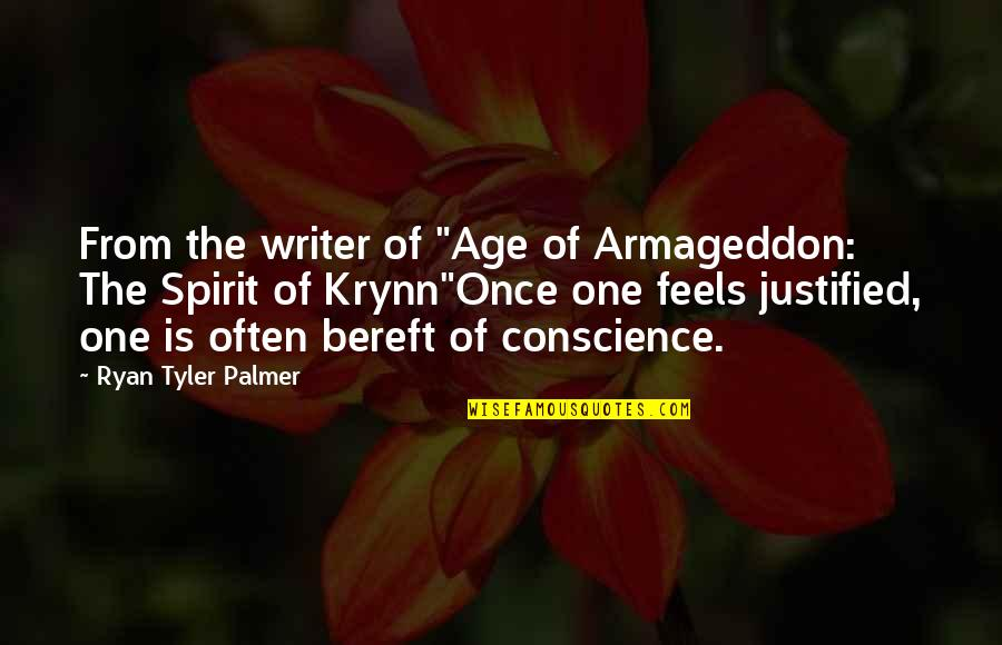 "Age Quotes And Quotes By Ryan Tyler Palmer: From the writer of ""Age of Armageddon: The"