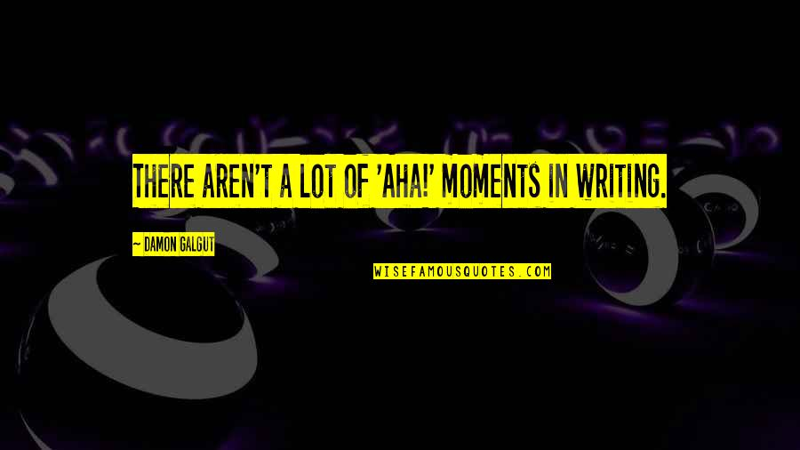 Aha Quotes By Damon Galgut: There aren't a lot of 'Aha!' moments in
