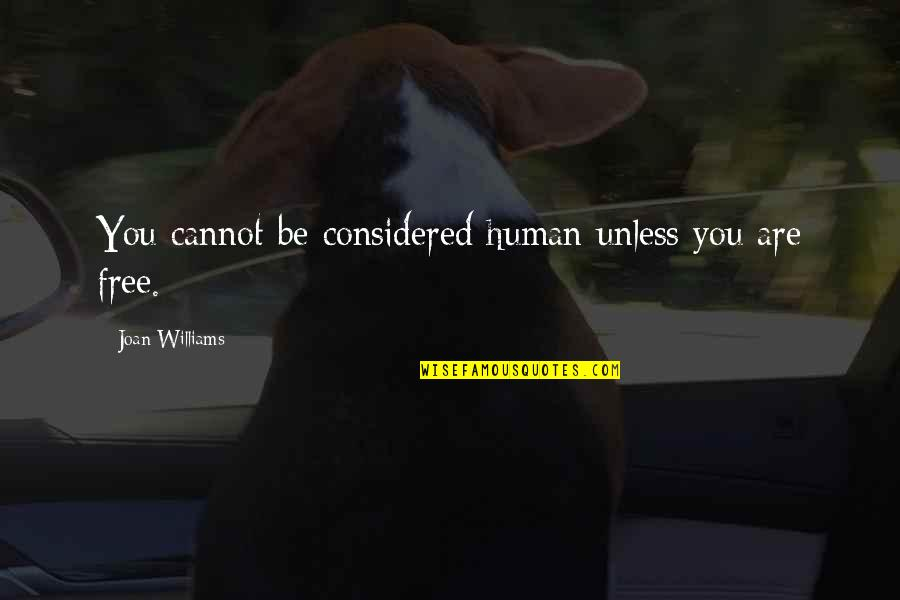 Ahmet Rasim Quotes By Joan Williams: You cannot be considered human unless you are