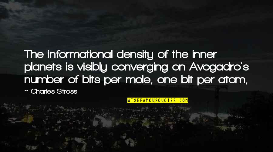 Aiesec's Quotes By Charles Stross: The informational density of the inner planets is