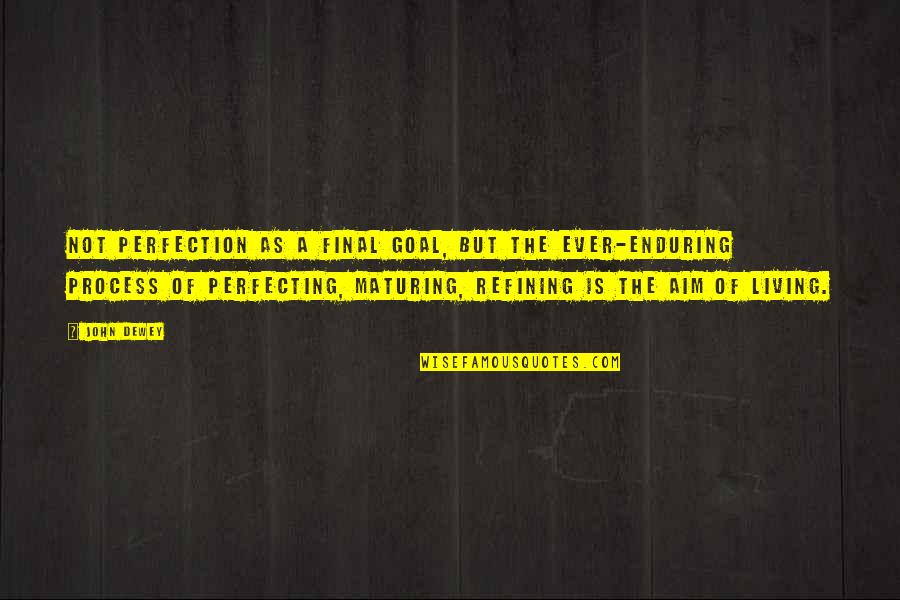 Aim For Your Goal Quotes By John Dewey: Not perfection as a final goal, but the