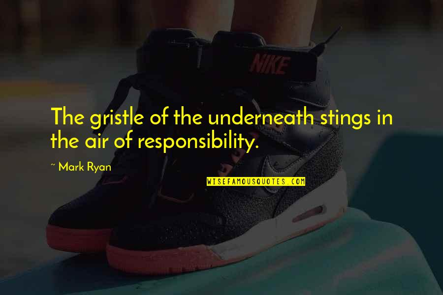 Air Quotes And Quotes By Mark Ryan: The gristle of the underneath stings in the
