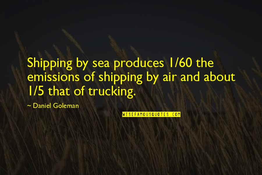 Air Shipping Quotes By Daniel Goleman: Shipping by sea produces 1/60 the emissions of